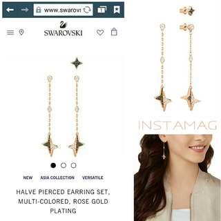 Swarovski Halve Pierced Earring Set