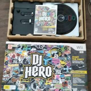 Wii DJ Hero Complete Set