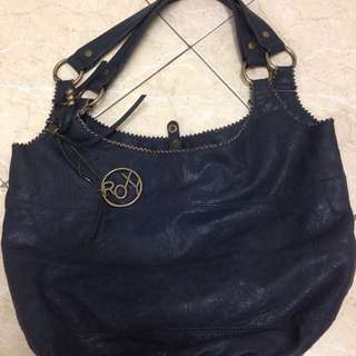 Roxy handbag (genuine leather) Blue Navy colour