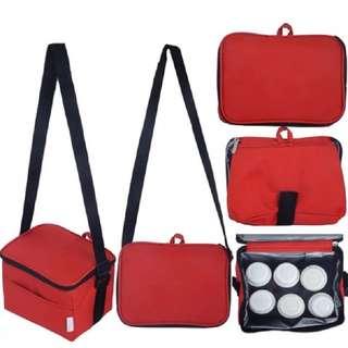 Autumnz Fun Foldaway Cooler Bag (Scarlet Checks)
