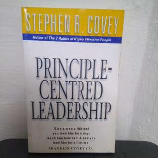 Stephen Covey Principle Centred Leadership