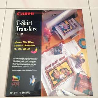 ($10)Canon T-Shirt Transfers TR-102