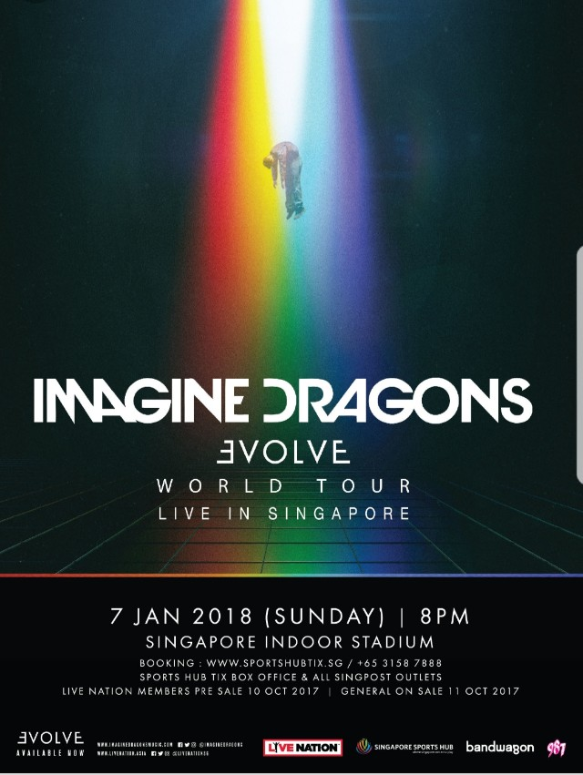 2 x Tickets to Imagine Dragons Concert (7th Jan 2018)