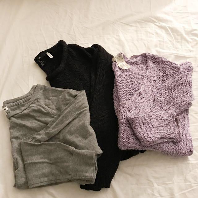 3 women's sweaters