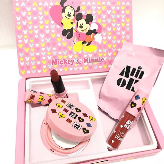 3in1 micky mouse (bb cushion+refill+lipstik+lipcream)