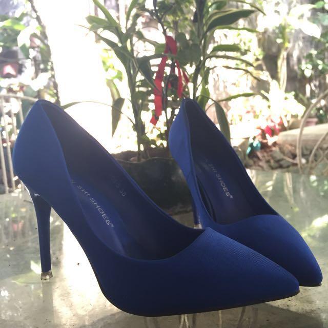 3-inch Blue Formal Heels