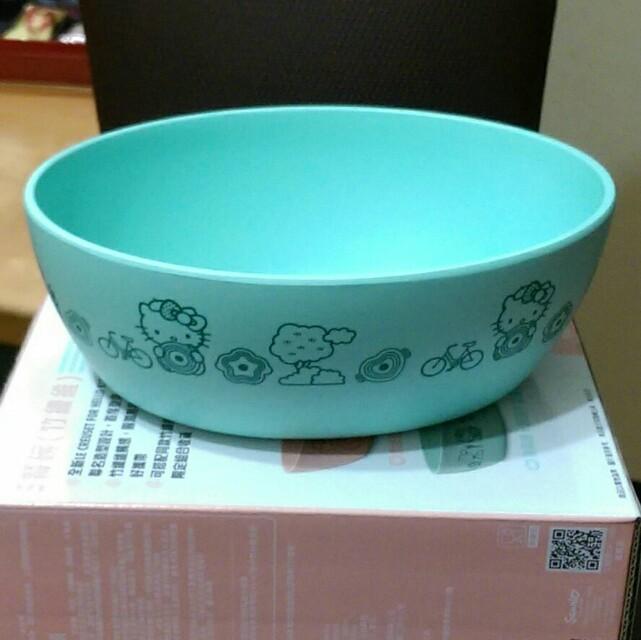 7-11 Le creuset x Hello Kitty 超玩美時尚集點送 竹纖維造型餐碗 薄荷綠橢圓形餐碗 現貨 #有超取最好買