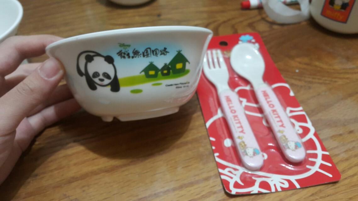 熊熊碗+餐具一組