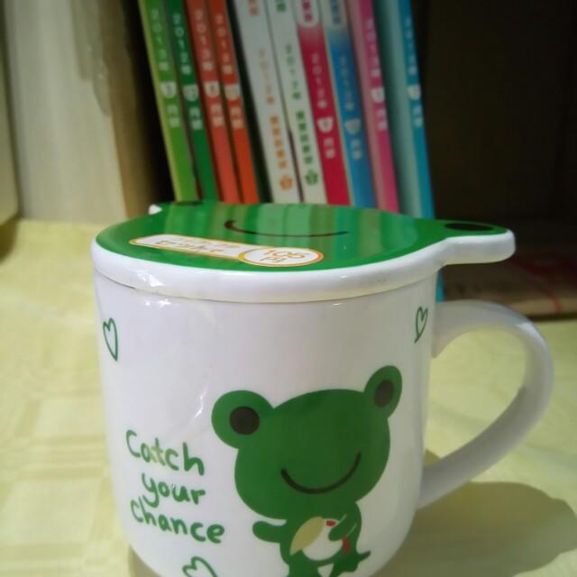 【全新】青蛙馬克杯(附杯蓋)