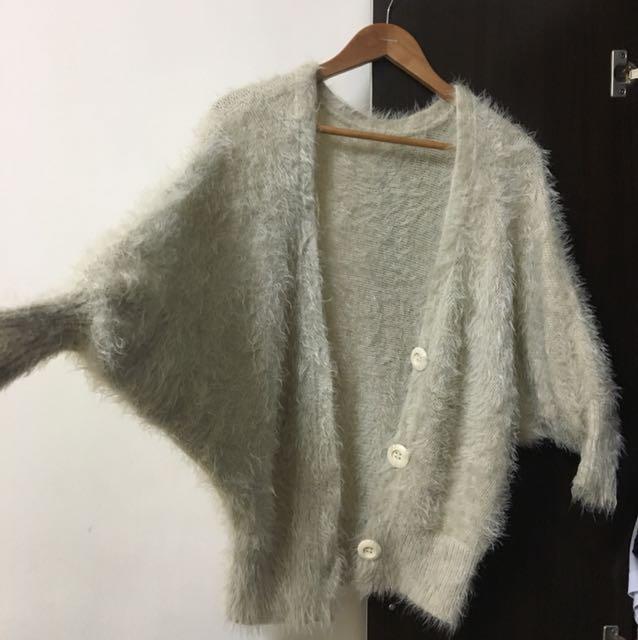 韓妞款💗飛鼠袖~毛毛外套