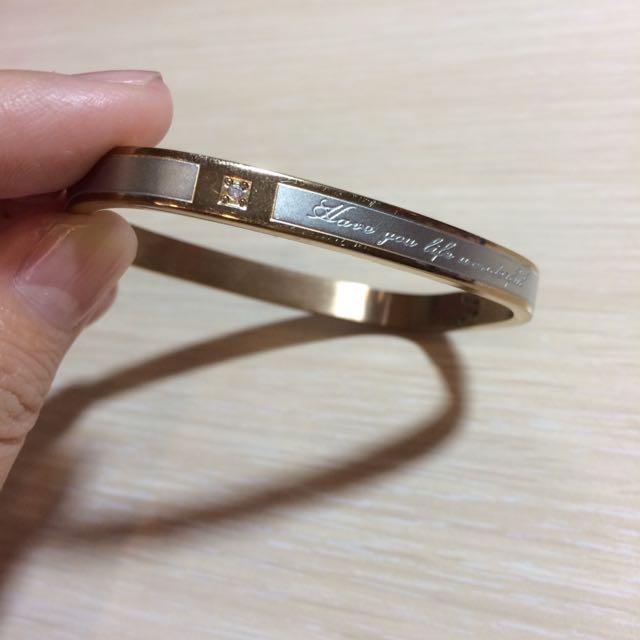 再降價☝️☝️香檳色系-方型手環
