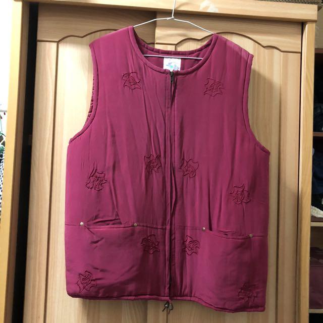 小資女孩👧玫瑰紅鋪棉保暖背心#冬季衣櫃出清
