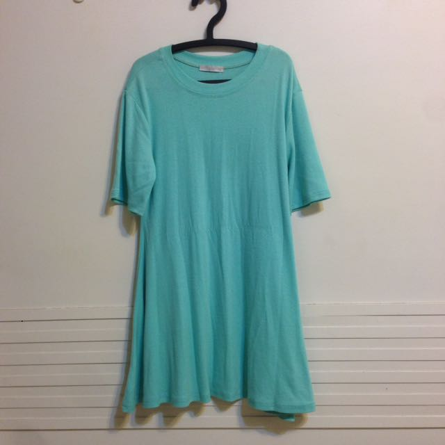 湖水綠棉質洋裝👗