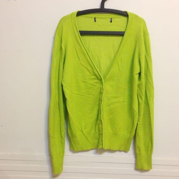 青綠薄款毛衣外套💚