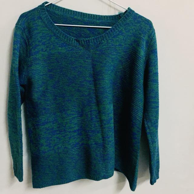 藍綠色毛衣 #冬季衣櫃出清