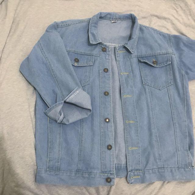 淺藍 牛仔外套