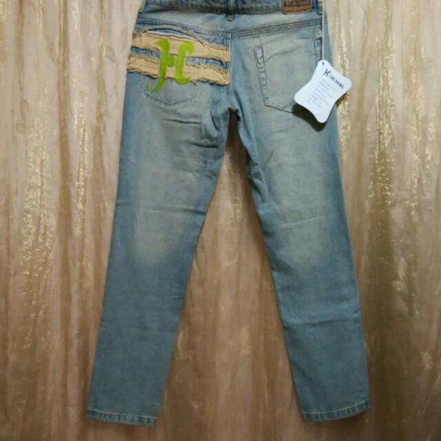 香港製 仿舊低腰牛仔褲 30(男女皆可)