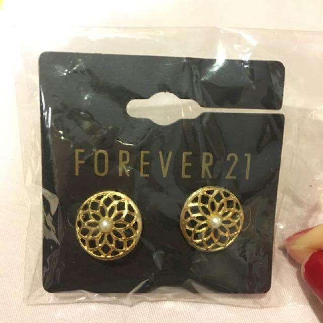 金色 珍珠 耳環