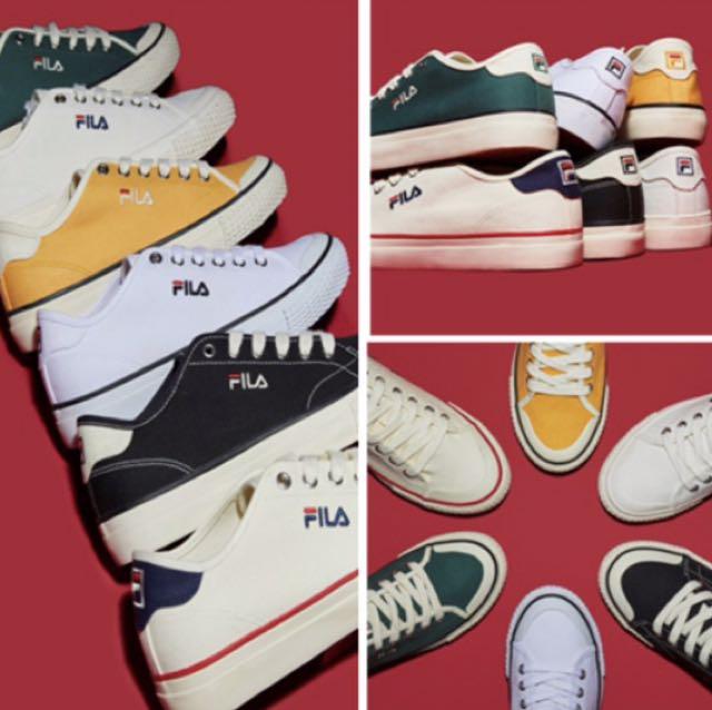 韓國代購 FILA 經典款 帆布鞋【FS1SIA1032X 】$1700 黑 綠 黃 白紅 白黑 全白
