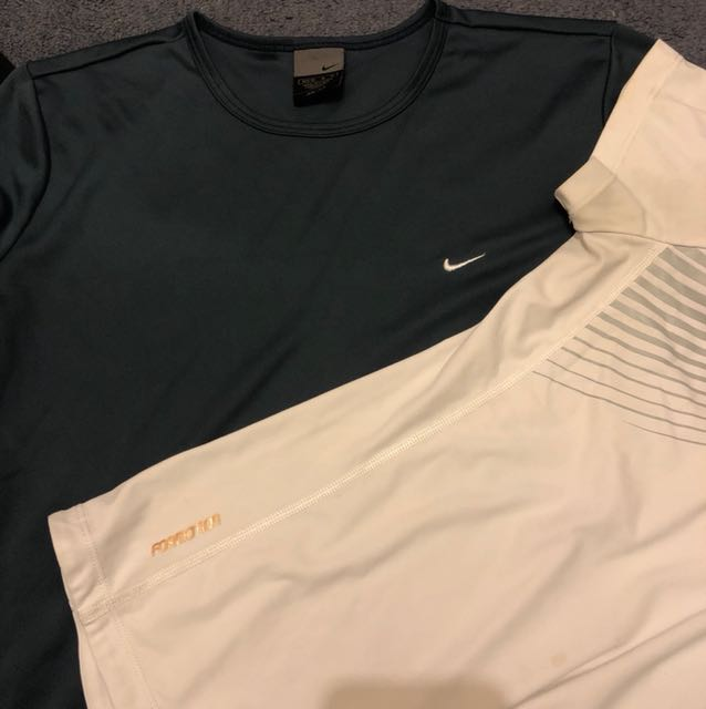 ADIDAS AND NIKE BUNDLE OF TWO WORKOUT TOPS