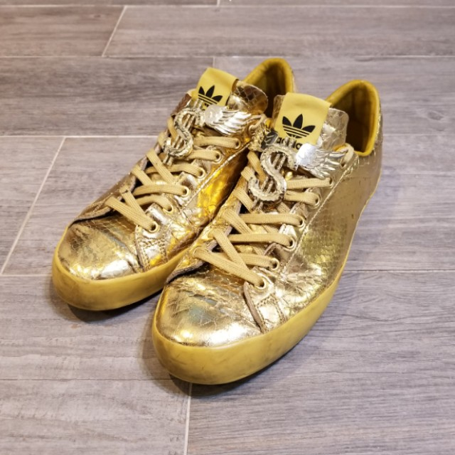 7b758aeb7789 Adidas Originals x Jeremy Scott Rod Laver  Metallic Gold  US 10 ...