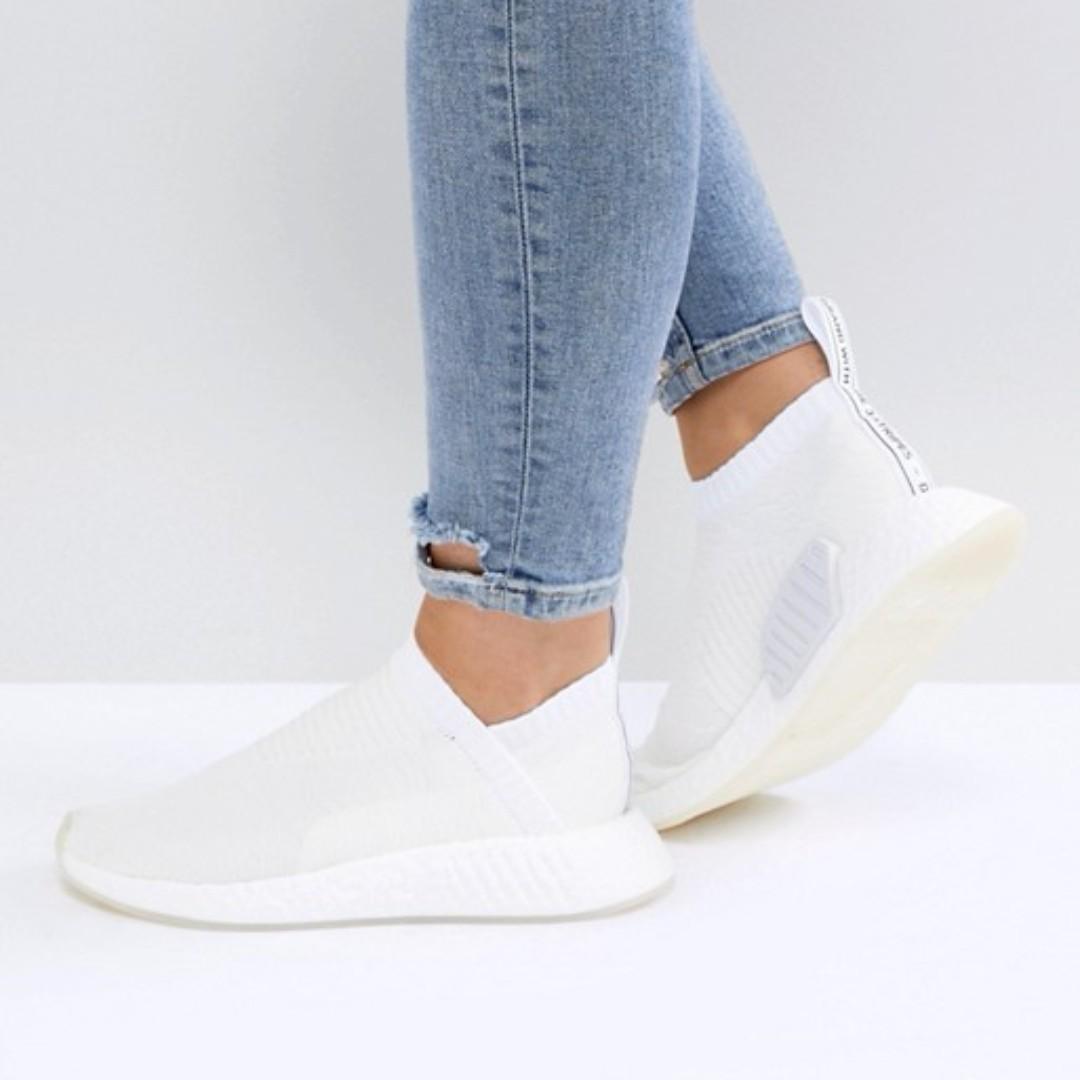 Adidas originali nmd cs2 trainer in bianco, la moda femminile, le scarpe
