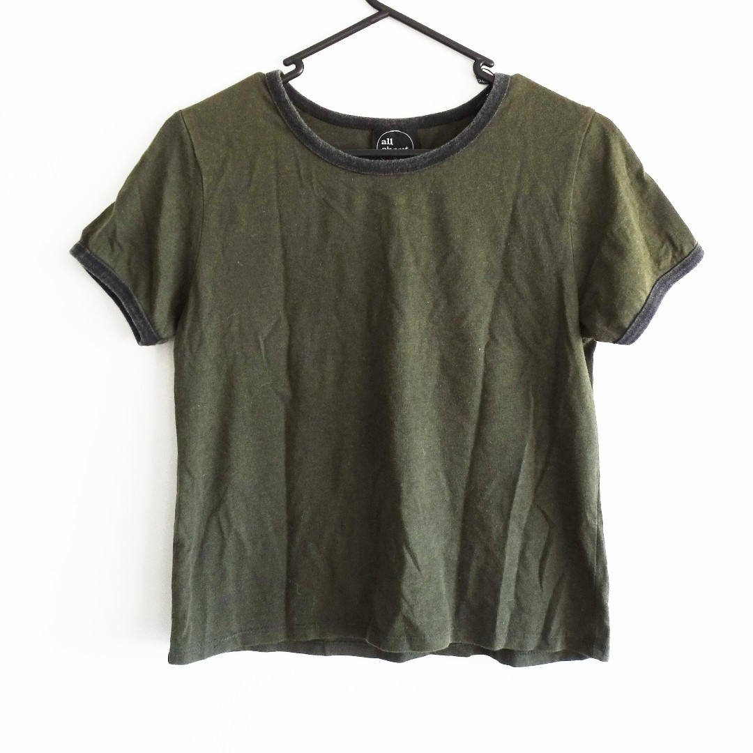 All About Eve Green Crop Size 8