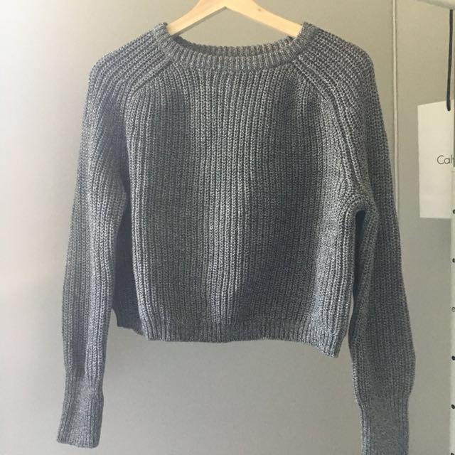 American Apparel - Crop Fisherman Sweater