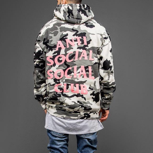 1d69a4e1789e Anti social social club pink camo hoodie assc frozen hoodie
