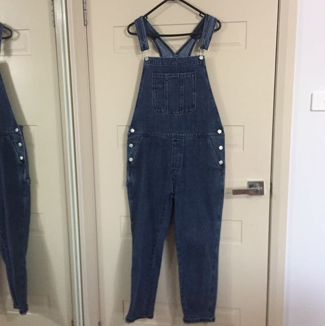 Assembly label size 12 denim overalls