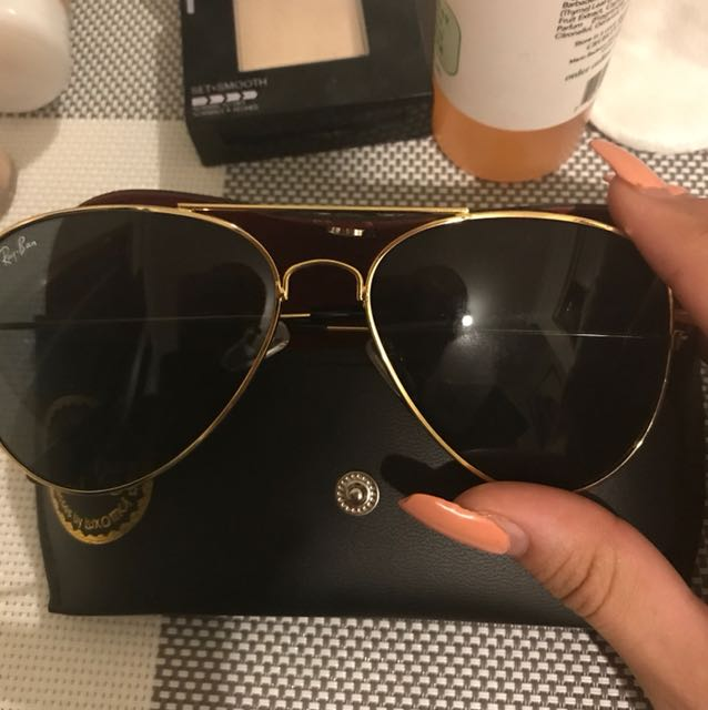 Authentic ray bans - only wore once but too big for my face unfortunately