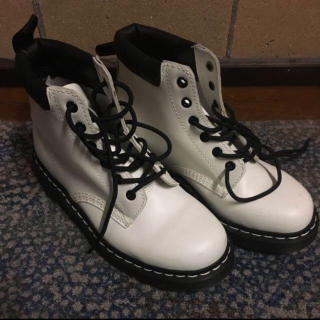 Authentic White Doc Marten Boots