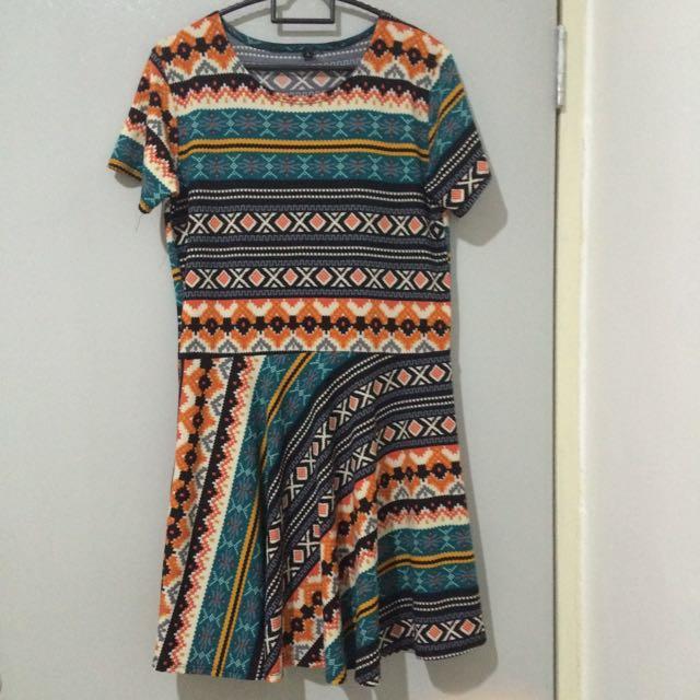 Aztec/Tribal Print Dress II #SemuaRM5