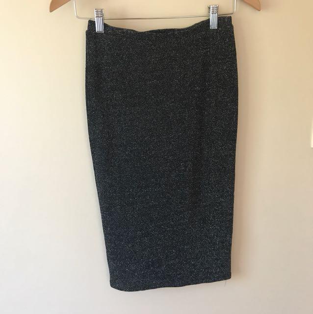 Bardot Shimmer Pencil Skirt Size 8