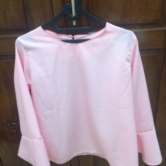 Blouse pink fir to L kecil