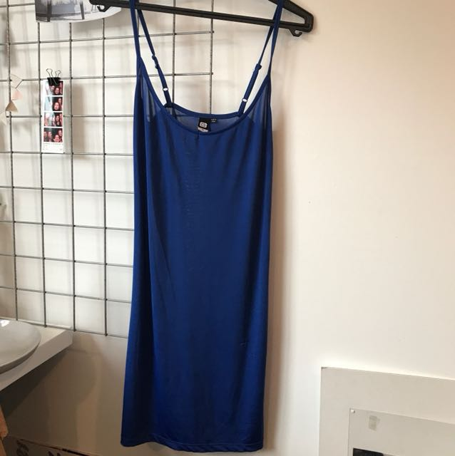 Blue slip dress Size 6