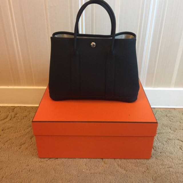 08237738d909 BNIB Hermes Garden Party 30 in Black Noir