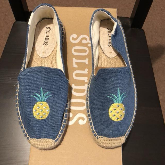BNIB Soludos Pineapple shoes Size 5
