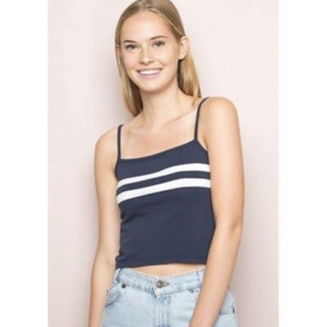 2417fbbd0 Brandy melville - blue and white stripes faye tank, Women's Fashion ...
