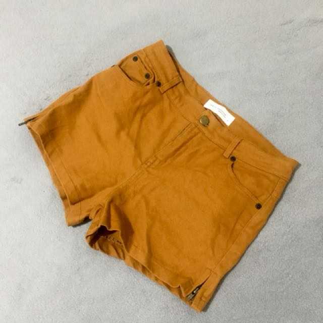 Brown high waist short