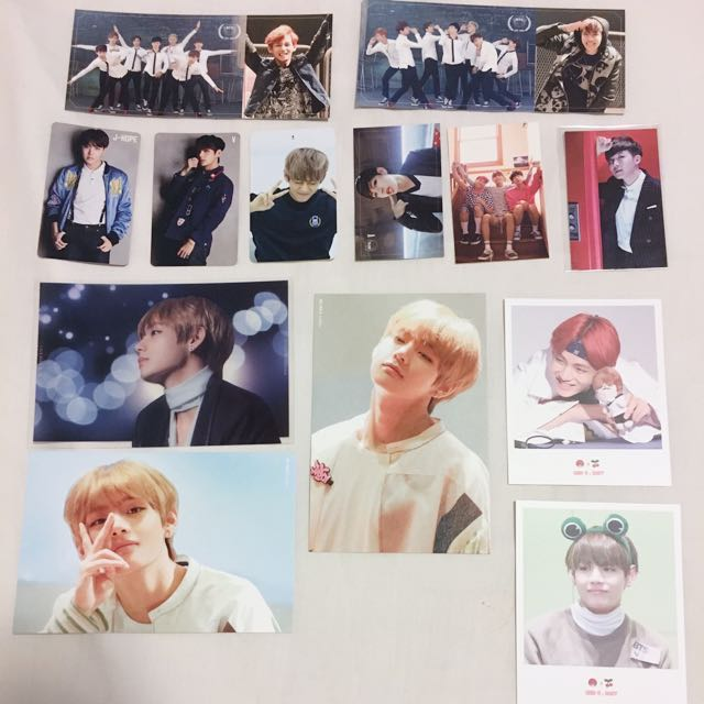 BTS Taehyung Hoseok Jhope Photocards official fansite