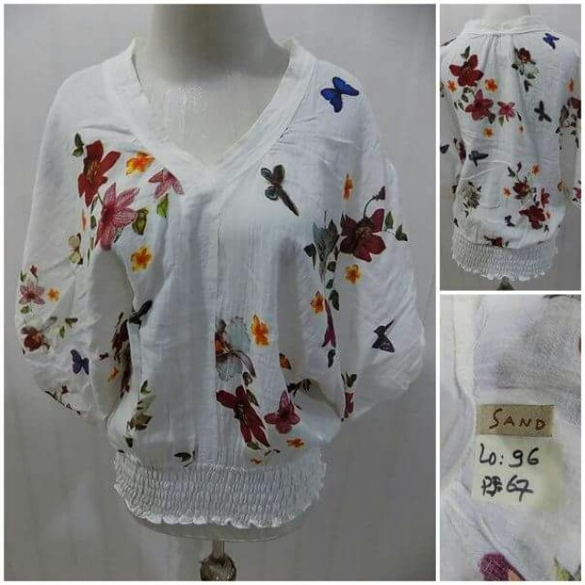 Butterfly Printed Blouse