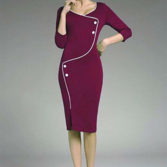 Button Formal Dress