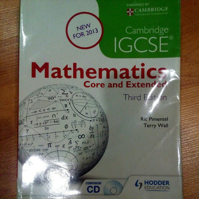 Cambridge igcse mathematics core extended 3rd edition photo photo fandeluxe Image collections