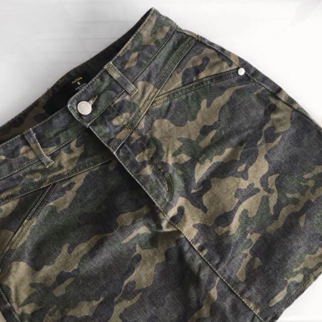Camo Army Green Skirt