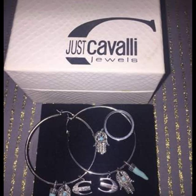 Cavalli Earrings and Ring BNIB