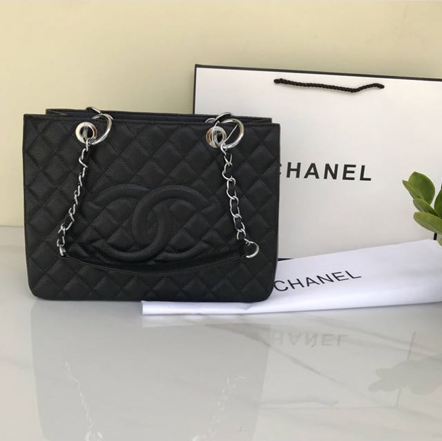 CHANEL GST CAVIAR LEATHER 33cm GHW GOLD HARDWARE MIRROR QUALITY 1:1 AUTHENTIC