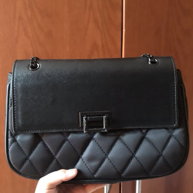 Charles & keith black sling bag