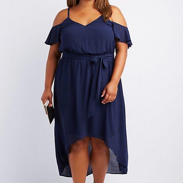 1d1a6a8941 Charlotte Russe Navy Blue Hi-Lo Dress