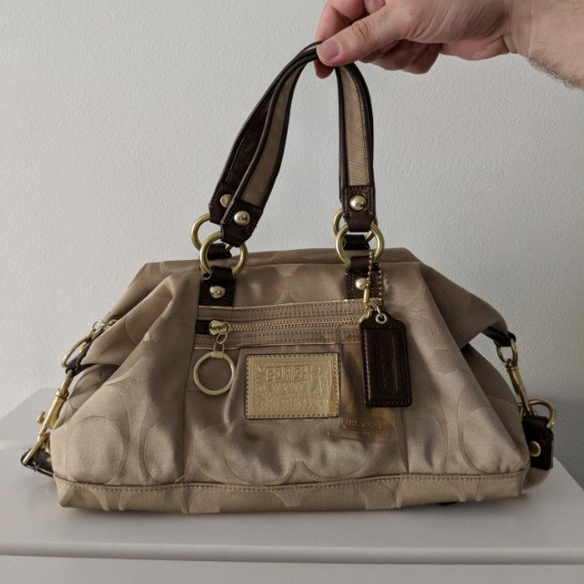 Coach small gold bag